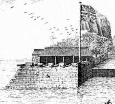 Granvill's Bastion in 1739
