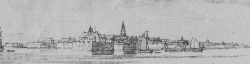 Detail from a 1777 map of Charleston harbor