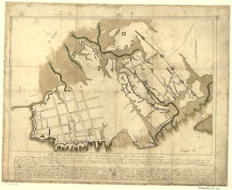 "Col. de Cambray's ""Plan de la ville de Charlestown"" at the Library of Congress"