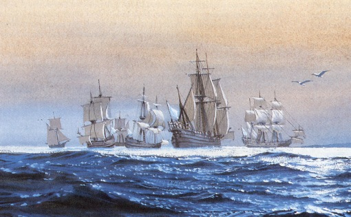 Detail of an illustration from P. C. Coker's book,Charleston's Maritime Heritage, 1670-1865